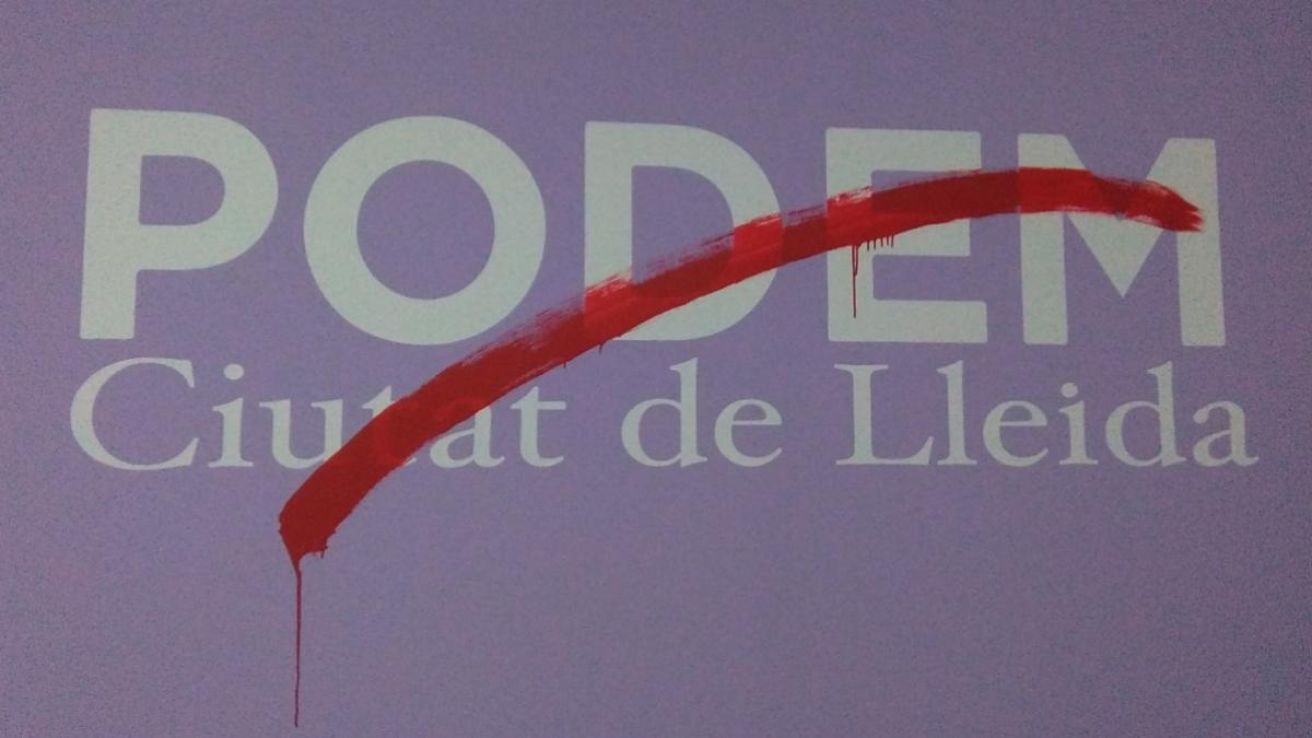 Foto compartida por Podemos Lérida en redes sociales tras dimitir
