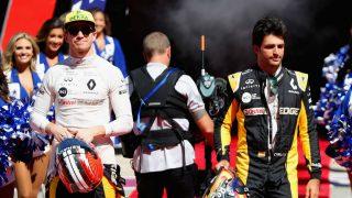 Nico Hulkenberg ha elogiado el debut de Carlos Sainz con Renault, considerando impresionante su velocidad a las primeras de cambio. (Getty)