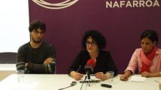 Silvia Jauregi, en el centro,  deja Podemos Navarra. (Foto: Podemos)