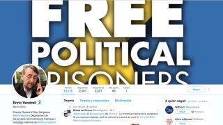 El perfil de Twitter del jefe de Asuntos Religiosos del Govern, Enric Vendrell