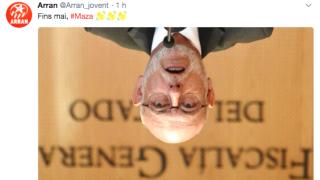 """El mensaje de los cachorros de la CUP: """"Hasta nunca, Maza""""."""