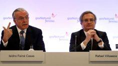 El presidente Gas Natural Fenosa, Isidro Fainé, y el consejero delegado, Rafael Villaseca. (Foto: EFE)
