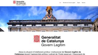 "Página web del autoproclamado ""Govern legítim"" de la Generalitat."