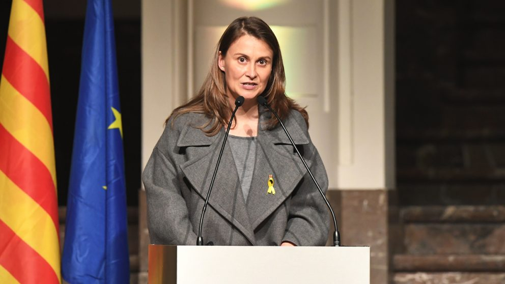 La ex consejera fugada en Bélgica Meritxell Serret. (Foto: AFP)