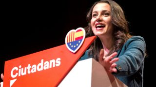 Inés Arrimadas, líder de C's, en la presentación de candidaturas del partido. (Foto: Efe)