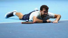 Grigor Dimitrov celebra el triunfo en la Copa Masters. (Getty)