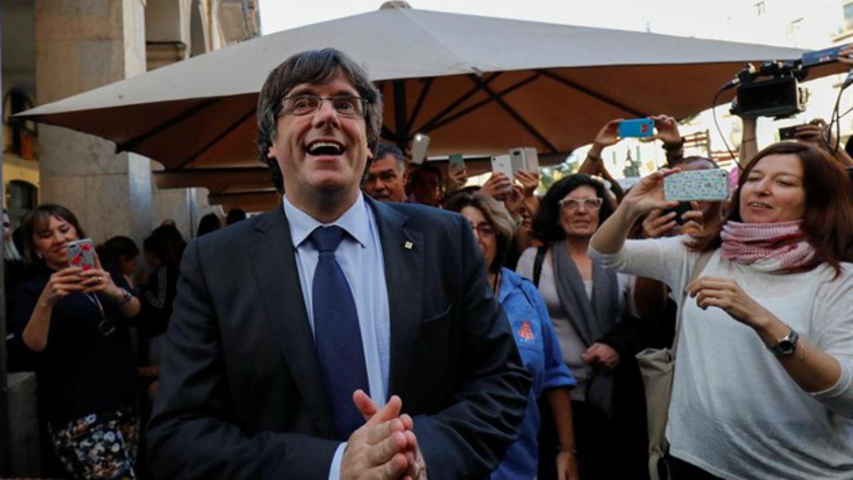El ex presidente catalán Carles Puigdemont, en Bélgica.