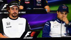 Felipe Massa considera a Fernando Alonso el mejor piloto al que se ha enfrentado, equiparándole solamente a Schumacher y a Hamilton. (Getty)