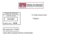 Resolución del Defensor del Pueblo valenciano