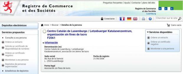 La Generalitat patrocinó una segunda fundación en Luxemburgo del responsable de la ANC en el paraíso fiscal