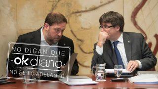 El ex vicepresidente de la Generalitat, Oriol Junqueras, junto al que fuese el líder del ejecutivo catalán, Carles Puigdemont (Foto: Efe)