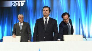 El presidente de Endesa, Borja Prado, junto al consejero delegado José Bogas. (Foto: EFE)