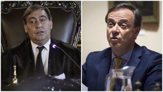 El magistrado del Supremo Julián Sánchez Melgar y José Ramón Navarro, presidente de la Audiencia Nacional. Foto: EFE