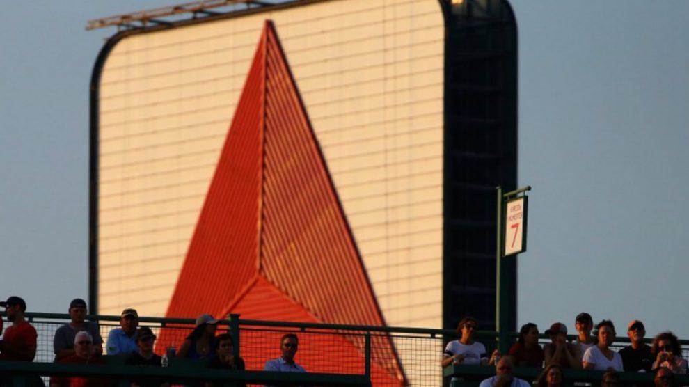 Una valla publicitaria con el logo de la refinadora venezolana Citgo en una carrera de Fórmula 1. Foto: AFP