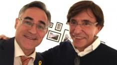 Elio di Rupo, ex primer ministro belga con Ramón Tremosa, del PDeCat