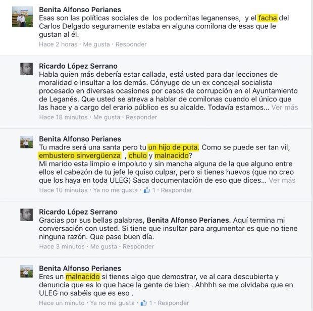 """La candidata del PSOE de Leganés que llamó """"hijo de puta"""" a un edil es obligada a disculparse"""