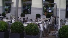 Terraza con estufas en Madrid (Redes Sociales).
