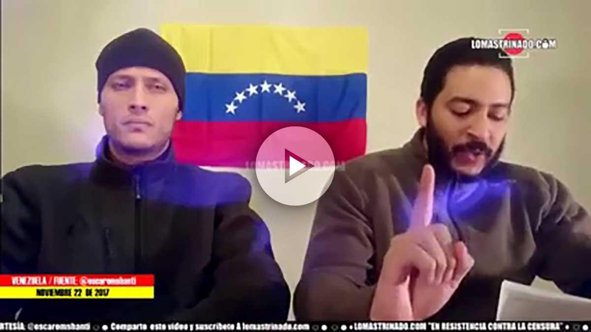 Óscar Pérez, el policía que atacó sedes gubernamentales en Venezuela desde un helicóptero.