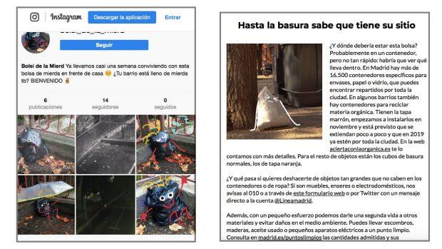 Carmena paga 54.000 € por una campaña de limpieza que plagia a una joven diseñadora