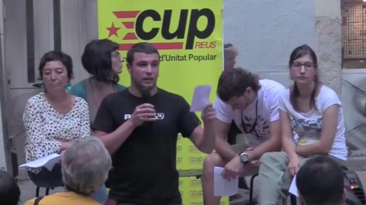 Edgar Fernández, portavoz y concejal de la CUP en Reus