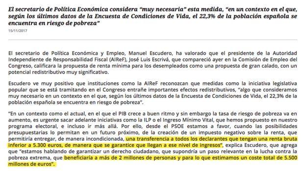 El PSOE pretende robar votantes a Podemos con una renta mínima cuyo coste sumaría 5.500 millones
