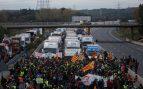 Cortes de la N-145 por la huelga separatista el 8-N