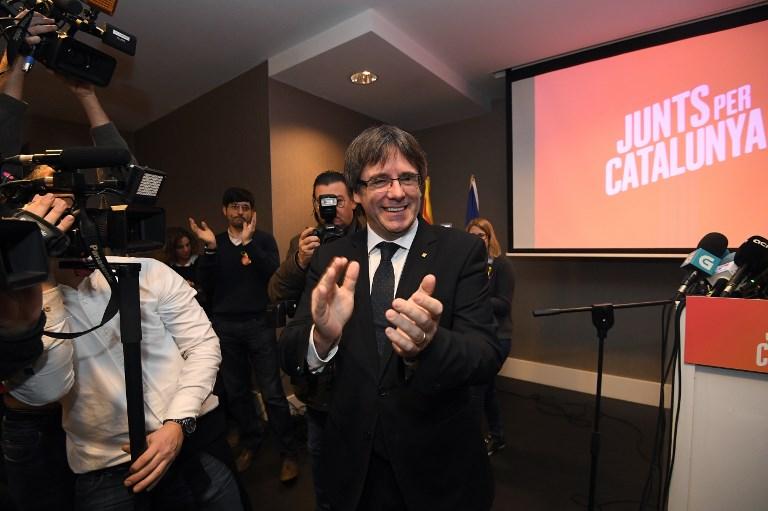 Puigdemont, en un acto en Bélgica.