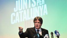 Carles Puigdemont en la presentación de Junts per Catalunya en Brujas. (Foto: AFP)