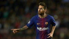 Lionel Messi, en un partido con el Barcelona. (Getty)