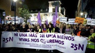 Manifestación en Madrid contra la violencia de género (Foto: Efe).