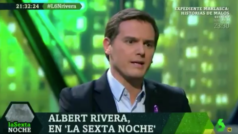El presidente de Ciudadanos, Albert Rivera, en La Sexta Noche.