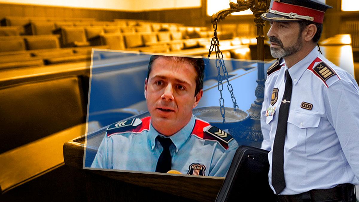 Josep Lluís Trapero y el subinspector de los Mossos Antoni Salleras.