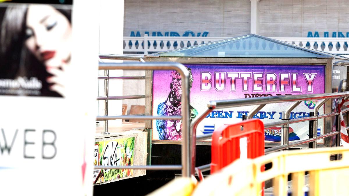 Entrada de la discoteca Butterfly en la que se produjo el incidente (Foto: Efe).