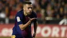 Jordi Alba empató para el Barcelona a falta de ocho minutos. (AFP)