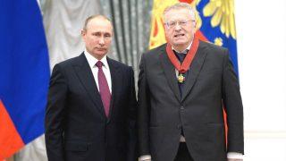 Putin impuso a Vladimir Zhirinovski la Medalla del Mérito a la Patria.