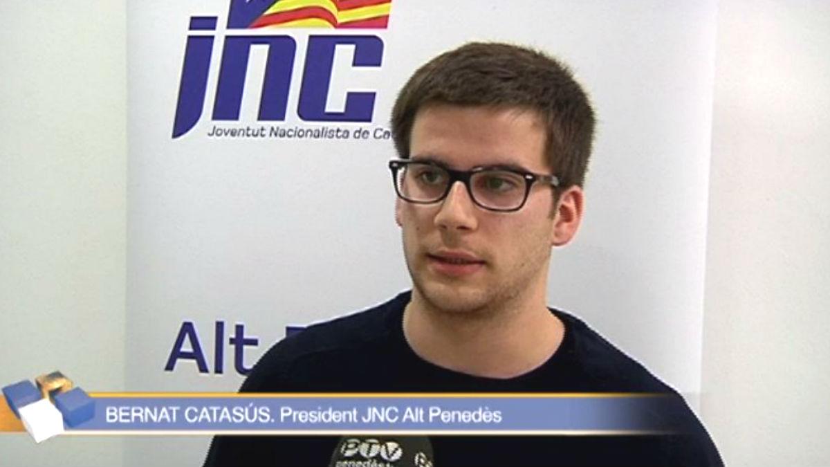 Bernat Catasús, presidente de la Juventud Nacionalista de Cataluña en Alt Penedès (Barcelona)