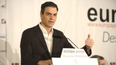 El secretario general del PSOE, Pedro Sánchez (Foto: Europa Press)