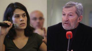 Isabel Serra (anticapitalista) y el ex Jemad Julio Rodríguez (pablismo-errejonismo).