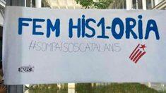 Un cartel en un instituto de Palma de Mallorca a favor del referéndum ilegal del 1-O.