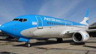 Avión de Aerolíneas Argentinas. (Foto: Enaire)