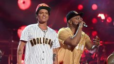 Bruno Mars durante 2017 BET Awards.