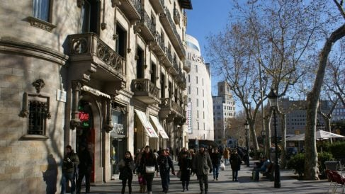 Paseo de Gracia de Barcelona (Foto. Getty)