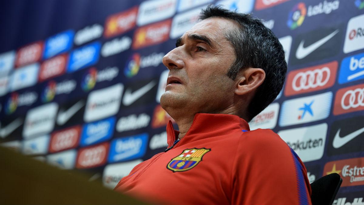 Valverde comparece en rueda de prensa. (AFP)