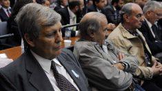 Los represores argentinos escuchando el veredicto. Foto: AFP
