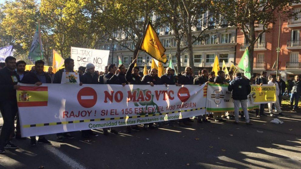 Huelga del taxi en Madrid (Foto. MV)