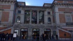 Museo del Prado durante la huelga de taxis Foto. MV