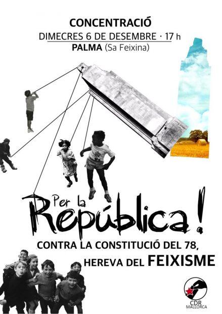 Concentración de los CDR contra la Constitución