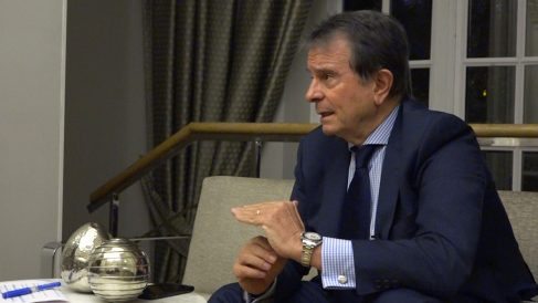 Antonio Catalán, presidente de AC Hoteles by Marriott en un momento de la entrevista.