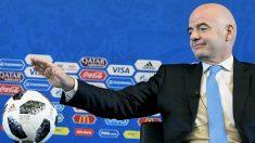 Gianni Infantino durante una rueda de prensa. (AFP)