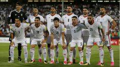 Irán durante un partido de la fase de clasificación. (AFP)